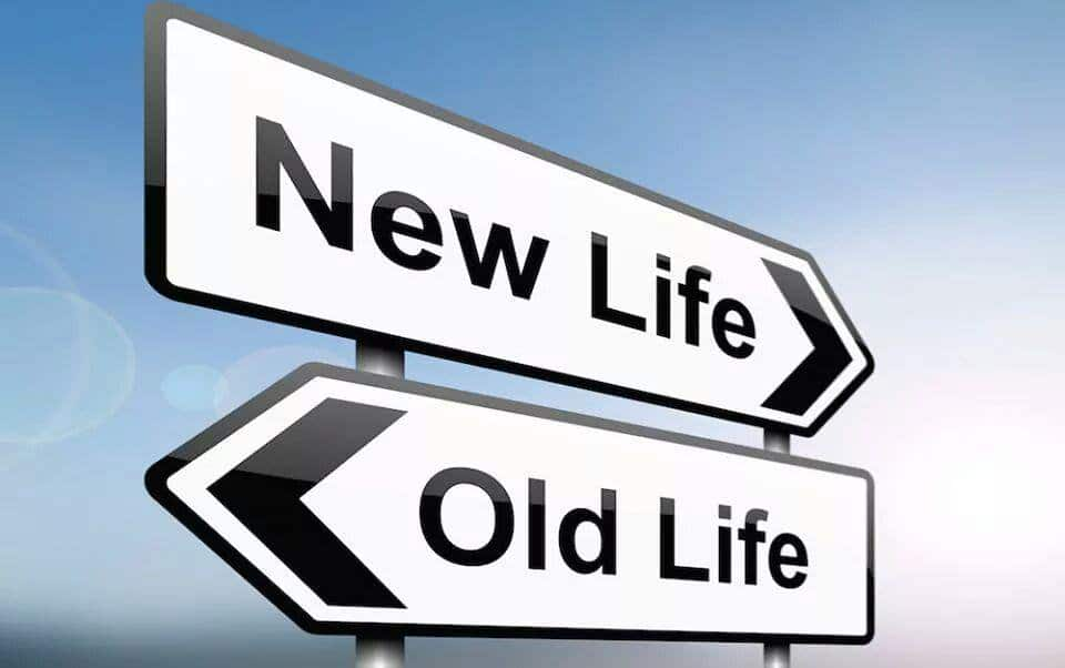 Sign Pointing New Life Hypnotherapy Benefits Over Old Life