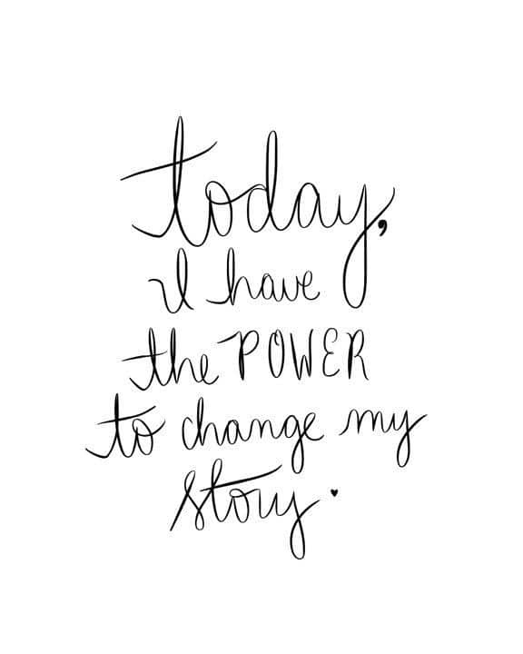Motivational Quote - Today I Have the POWER to Change My Story