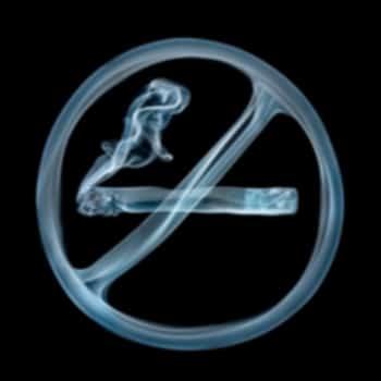 quit smoking symbol made of smoke